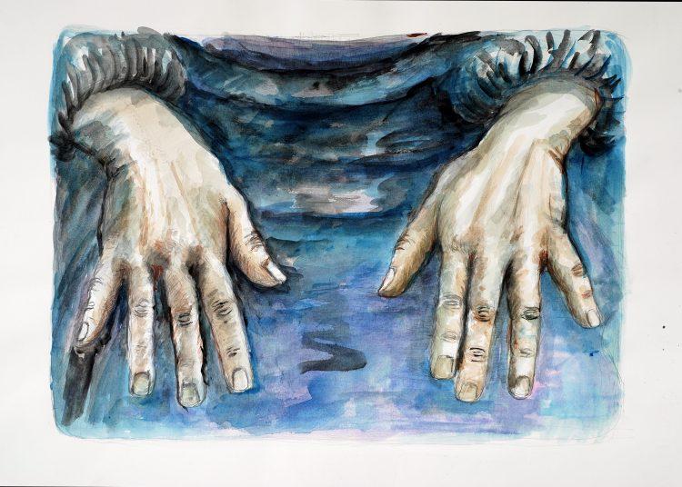 Arbeitet Hände